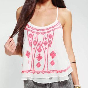 Ecote UO Embroidered Bazaar Cami - XS